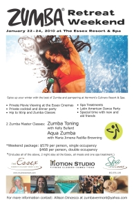 Flyer for zumba retreat
